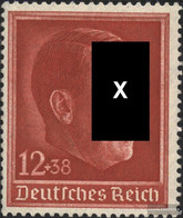 German Empire 664 (complete Issue) With Hinge 1938 Birthday Hitler - Germany