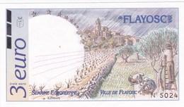France - Emission Locale - Billet De 3 Euros - Ville De Flayosc (83) - Du 15 Au 21 Avril 1996 - Neuf - Autres