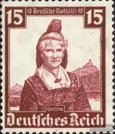 Deutsches Reich 594 Con Fold 1935 Costumi - Germany