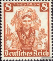 Deutsches Reich 592 Con Fold 1935 Costumi - Allemagne