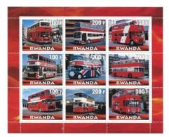 Rwanda Transportation Bus Sheet MNH - Autres