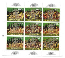 Rwanda Chess Overprinted Sheet MNH - Rwanda