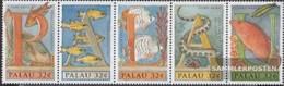 Palau-Islands 992-996 Five Strips (complete.issue.) Unmounted Mint / Never Hinged 1996 Unterwasserwelt - Palau
