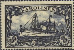 Carolines (German.Colony) 18 With Hinge 1901 Ship Imperial Yacht Hohenzollern - Colony: Caroline Islands