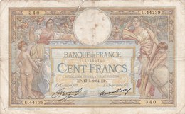 France - Billet De 100 Francs Type Luc Olivier Merson - 17 Mai 1934 - 1871-1952 Antiguos Francos Circulantes En El XX Siglo
