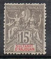 ANJOUAN N°15 N* - Anjouan (1892-1912)