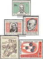 Tschechoslowakei 1561,1562,1563,1564,1565 (kompl.Ausg.) Postfrisch 1965 Stur, Navratil, Martinu, Uni, Chemi - Tschechoslowakei/CSSR