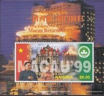 Namibia - Südwestafrika Block 32 (completa Edizione) MNH 1997 Ritorno Macao A Cina - Namibia (1990- ...)