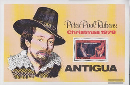 Antigua Block39 (complete.issue.) Unmounted Mint / Never Hinged 1978 Christmas - Antigua And Barbuda (1981-...)