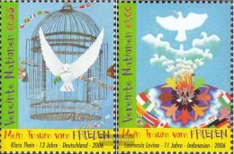 UN - Vienna 475-476 (complete Issue) Unmounted Mint / Never Hinged 2006 Weltfriedenstag - Wien - Internationales Zentrum
