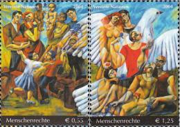 UN - Vienna 430-431 (complete Issue) Unmounted Mint / Never Hinged 2004 Human Rights - Wien - Internationales Zentrum