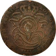 Monnaie, Belgique, Leopold I, 5 Centimes, 1834, B+, Cuivre, KM:5.1 - 1831-1865: Léopold I.