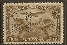 CANADA 1938 5c OHMS Perfin SG O113 HM #IL41 - Officials