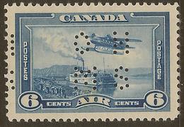 CANADA 1939 6c OHMS Perfin SG O133 HM #IL42 - Officials