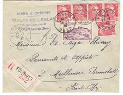 7649 - Recommandée De FOURMIES - 1921-1960: Moderne