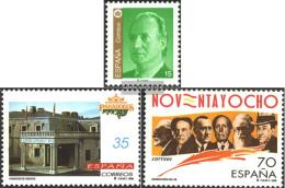 Spain 3373,3374,3377 (complete Issue) Unmounted Mint / Never Hinged 1998 Juan Carlos, Hotel, Writers - 1931-Hoy: 2ª República - ... Juan Carlos I