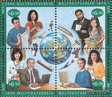 UN - Vienna 294-297 Block Of Four (complete Issue) Fine Used / Cancelled 1999 UPU - Vienna – International Centre