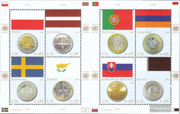 UN - Vienna 530-537 Sheetlet (complete.issue.) Unmounted Mint / Never Hinged 2008 Flags And Coins - Ungebraucht
