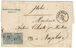 7657 - Pour L'ITALIE - 1865-1866 Linksprofil