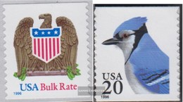 U.S. 2725,2753 (complete Issue) Unmounted Mint / Never Hinged 1996 Eagle Crest, Blauhäher - United States