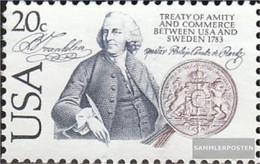 U.S. 1615 (complete Issue) Unmounted Mint / Never Hinged 1983 Handelsvertrag With Sweden - Nuovi
