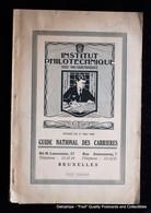 Guide Des National Des Carrières Institut Philotechnique Bruxelles Lemonier Anneessens - Livres, BD, Revues