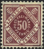 Württemberg D118 Tested Fine Used / Cancelled 1906 Numbers In Diamond - Wurttemberg