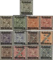 Württemberg D258-D270 (completa Edizione) MNH 1919 I Numeri In Segni - Wurttemberg