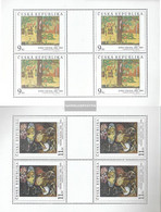Czech Republic 130Klb-131Klb Sheetlet (complete Issue) Unmounted Mint / Never Hinged 1996 Art - Unused Stamps