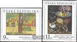 Czech Republic 130-131 (complete Issue) Unmounted Mint / Never Hinged 1996 Art - Unused Stamps
