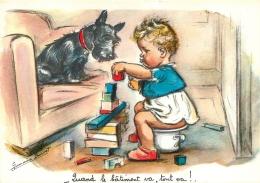 GERMAINE BOURET  EDITION MD SERIE 5406  4/1  QUAND LE BATIMENT VA TOUT VA - Bouret, Germaine