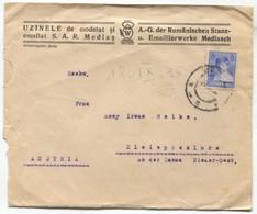 MEDIAS ROMANIA / UZINELE MEMORANDUM COVER 1935. - Otros