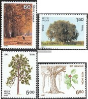 India 1122-1125 (complete Issue) Unmounted Mint / Never Hinged 1987 Trees - Unused Stamps