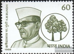 Indien 1197 (kompl.Ausg.) Postfrisch 1988 Munshi - Neufs