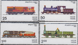 India 673-676 (complete Issue) Unmounted Mint / Never Hinged 1976 Locomotives - India