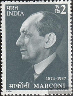 India 615 (complete Issue) Unmounted Mint / Never Hinged 1974 Marconi - India