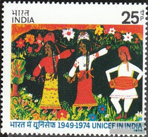 India 610 (complete Issue) Unmounted Mint / Never Hinged 1974 UNICEF - India