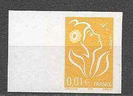 MARIANNE DE LAMOUCHE N° 3731 NON Dentelé Sans Bande De Phosphore NEUF** LUXE SANS CHARNIERE / MNH - 2004-08 Marianne (Lamouche)