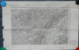Besançon Carte Du Chemin De Fer électrique,train ,besançon-brégille, 1895 Avec Tampon De 1905 Format 50x33 Ctms - Maps