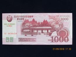 1000 Won CORÉE DU NORD 2008, Neuf, N'a Pas Circulé - Corée Du Nord