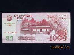 1000 Won CORÉE DU NORD 2008, Neuf, N'a Pas Circulé - Korea, North