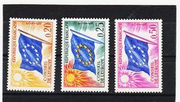 LVT383 FRANKREICH 1963 Michl 7/9 DIENSTMARKEN EUROPARAT **postfrisch SIEHE ABBILDUNG - Service