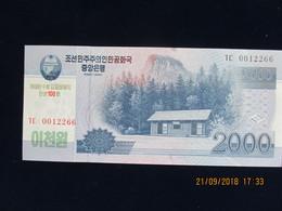2000 Won CORÉE DU NORD 2008, Neuf, N'a Pas Circulé - Corée Du Nord