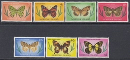 Norfolk Island 1977 - Definitive Stamps: Butterflies - Mi 186-187,192,194-195,197,200 ** MNH - Ile Norfolk