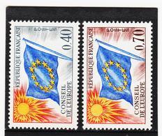 LVT387 FRANKREICH 1969 Michl 13/14 DIENSTMARKEN EUROPARAT **postfrisch SIEHE ABBILDUNG - Neufs