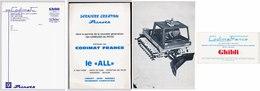 CODIMAT Cras Isère 38 Dameuses De Pistes Prinoth Machine à Nettoyer Ghibli Grue Pagliero   Papier à Lettre, Carton 2 * - 1950 - ...