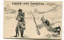 Cpa Militaria : Humour Casse Cou Imprévu Illustrateur  VOIR DESCRIPTIF  §§§ - Guerre 1914-18