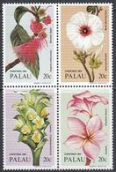 Palau 1984 - Christmas: Flowers - Block Of 4 Stamps Mi 61-64 ** MNH - Palau