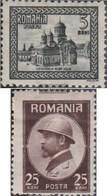 Rumänien 286-287 MNH 1922 Königskrönung - 1918-1948 Ferdinand, Carol II. & Mihai I.