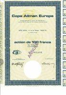 75-COPE ALLMAN EUROPE. 11 Rue De Téhéran PARIS - Other